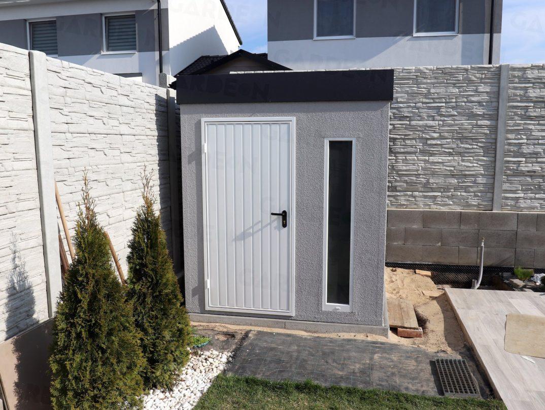 Záhradný domček GARDEON s bielymi dverami