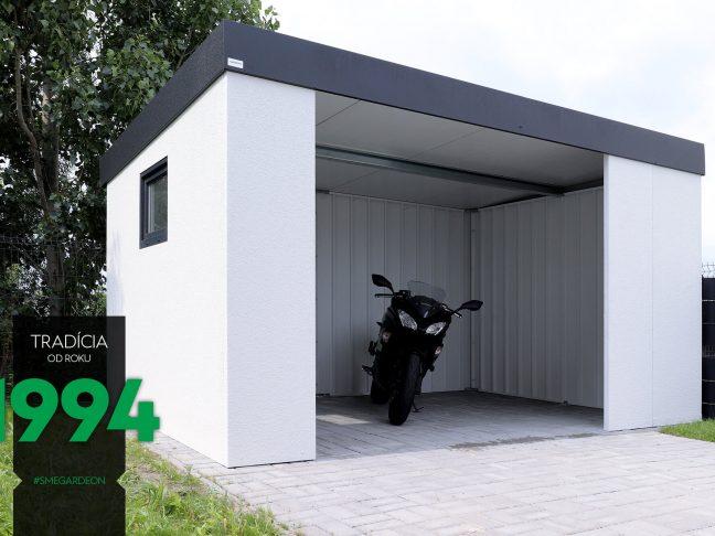 Montovaná garáž pre motorku