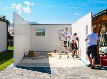 Montáž izolovaných stien garáže GARDEON