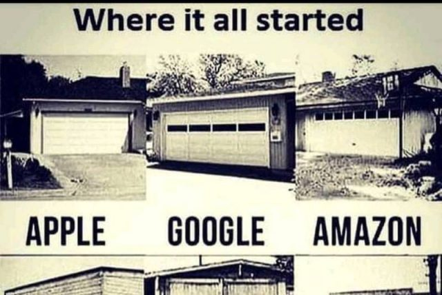 Firmy, ktoré začali v garáži.